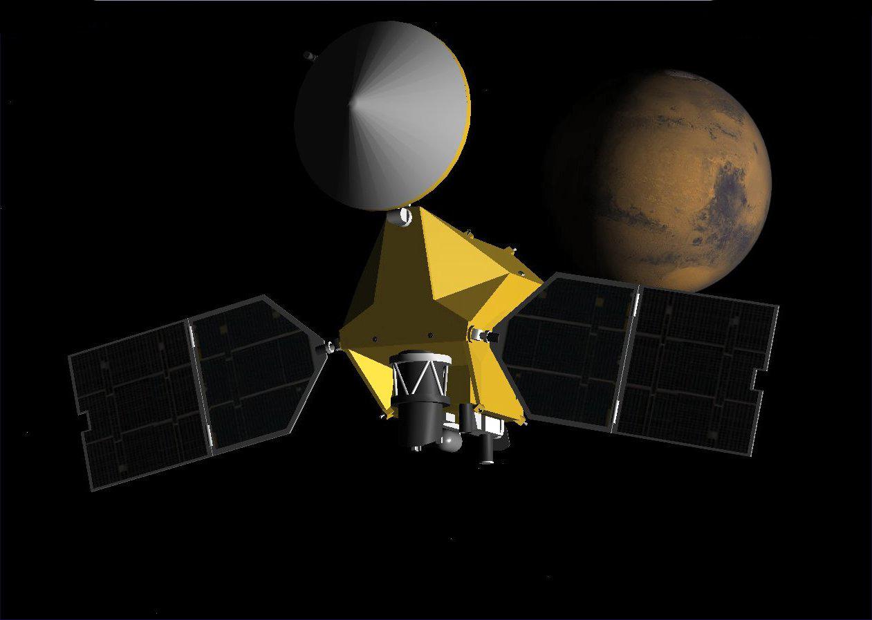 Компьютерная мультипликация зонда MRO