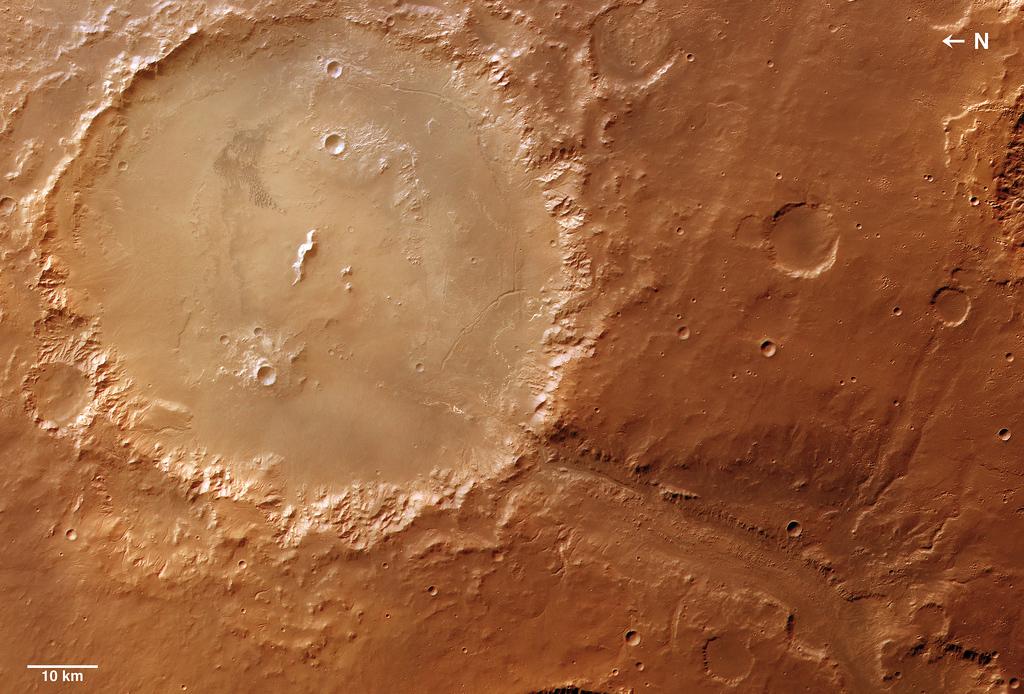 Кратер Holden, снимок ESA