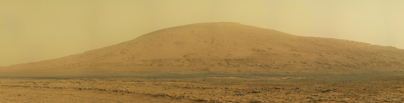 Панорама горы Шарп, полученная Curiosity на 170 сол (марсианский день)