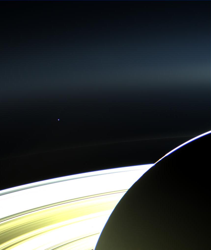 Земля, Сатурн и кольца