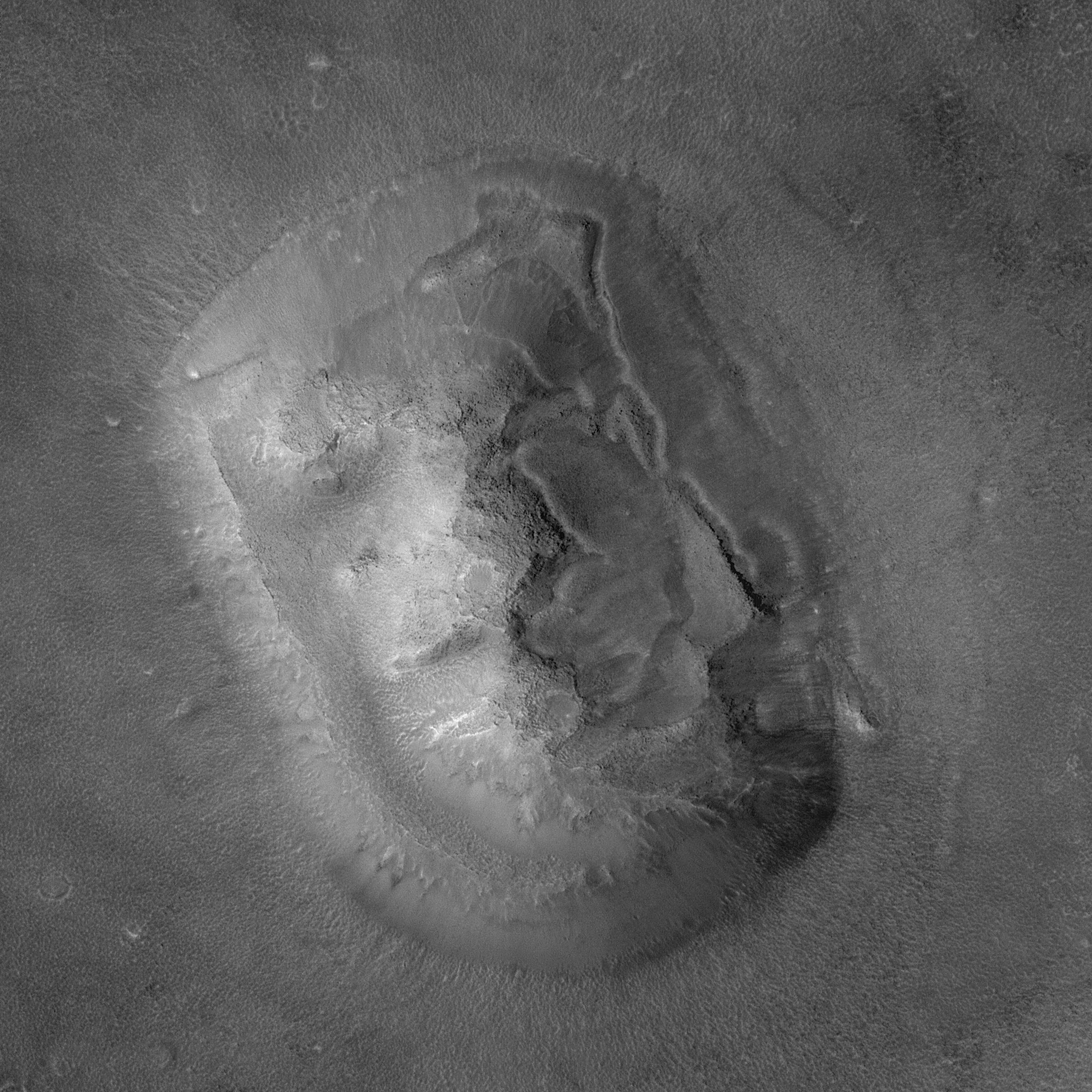 """Знаменитое """"Лицо на Марсе"""" в высоком качестве"""