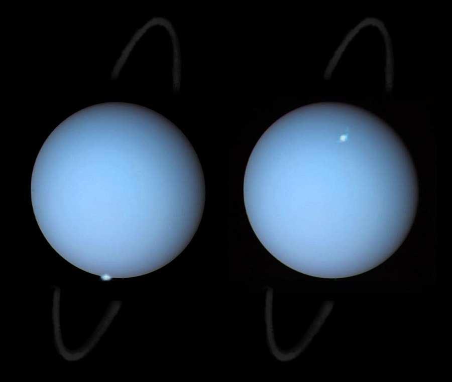 Уран в телескоп Хаббл