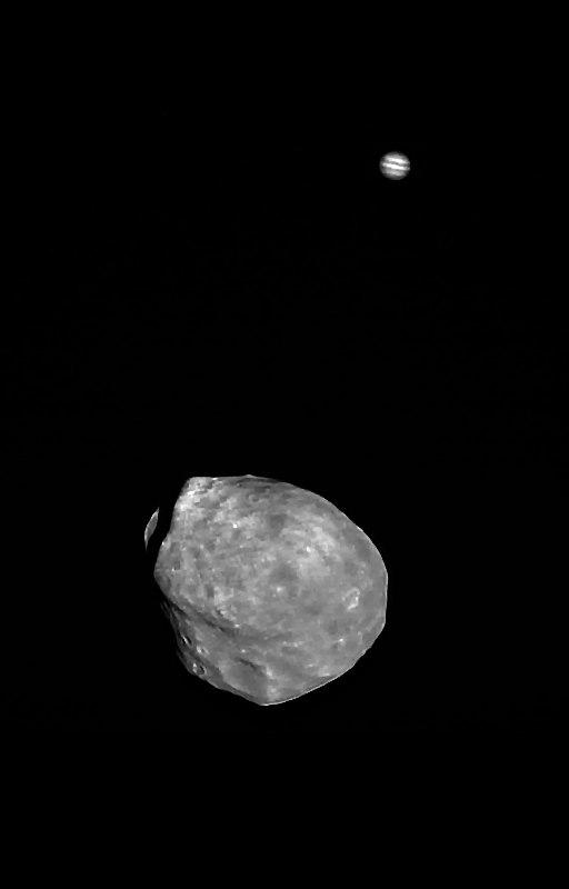Фобос и Юпитер