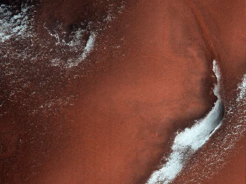Лед в пределах кратера Lonar