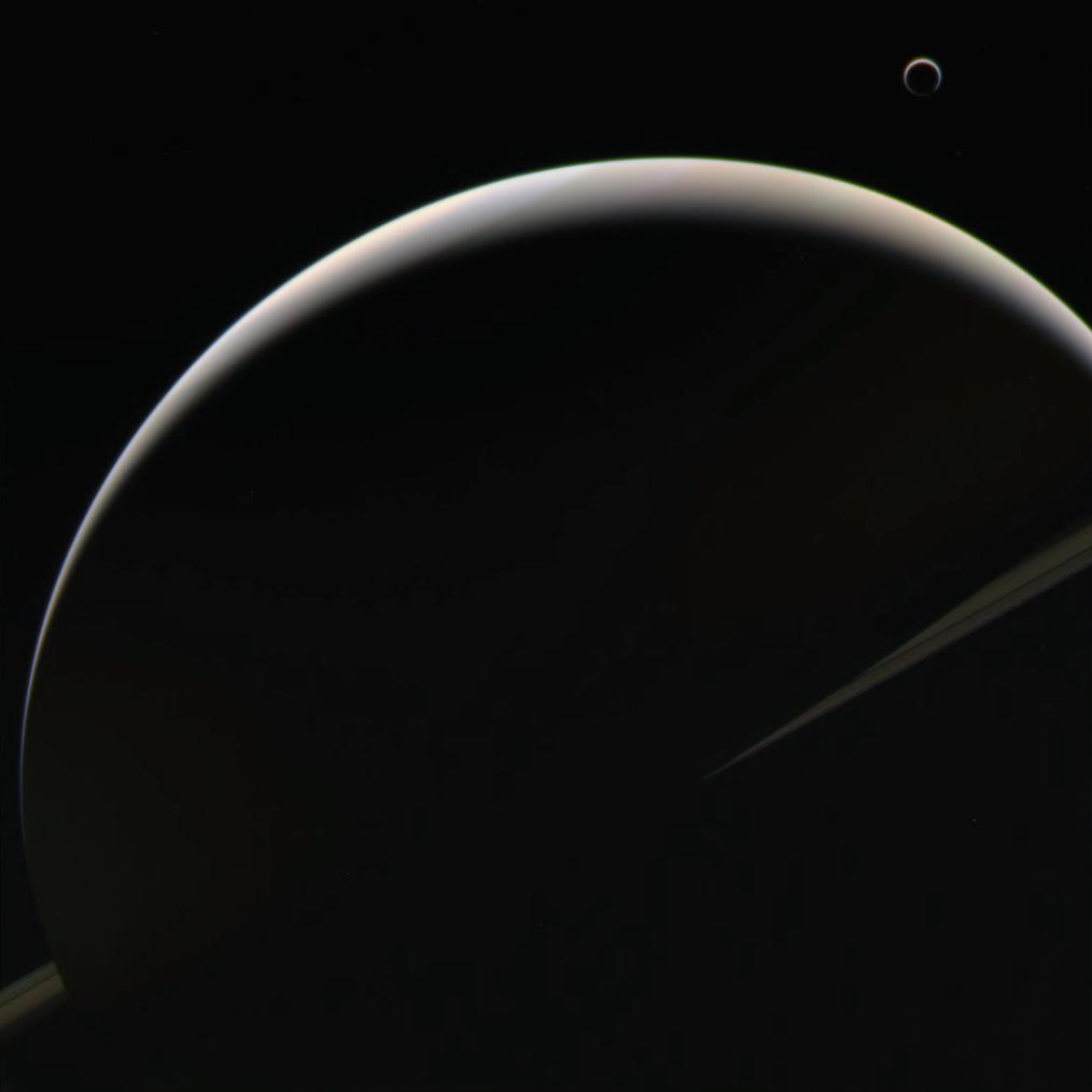 Полумесяцы Сатурна и Титана