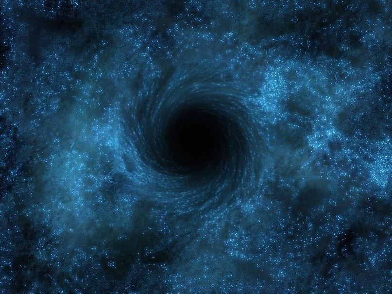 Черная дыра в представлении художника