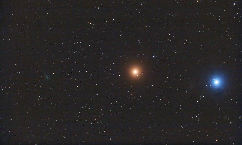Cоединение кометы ISON, Марса и Регула