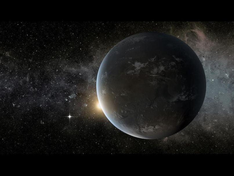 Экзопланета Kepler-62f в представлении художника
