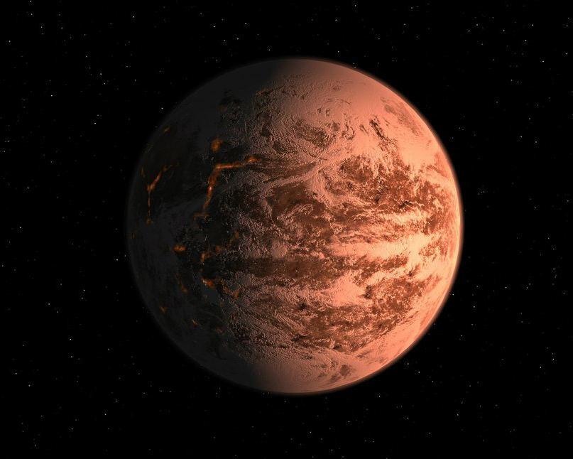 Предположительный вид Gliese 876 d
