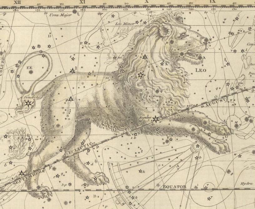Изображение Льва из древнего атласа неба