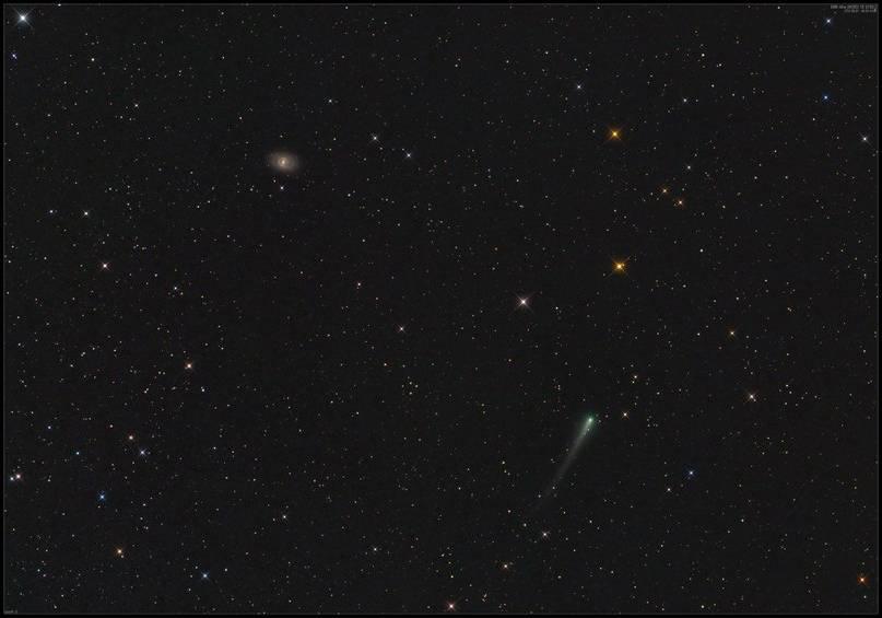 Комета ISON возле галактики М95
