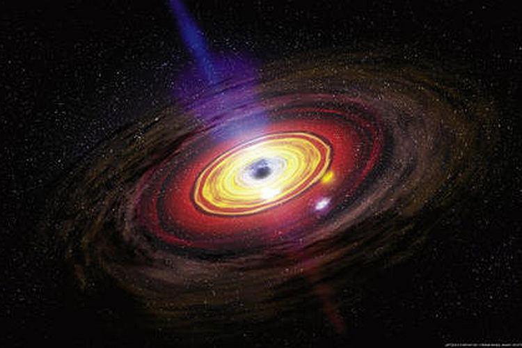 Поглощение вещества черной дырой