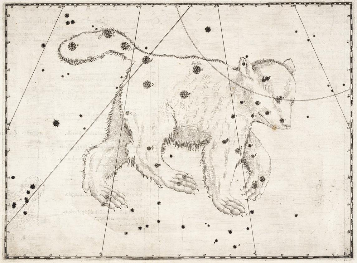 """Созвездие Большой Медведицы Иоганн Байер """"Уранометрия"""" 1603 год"""