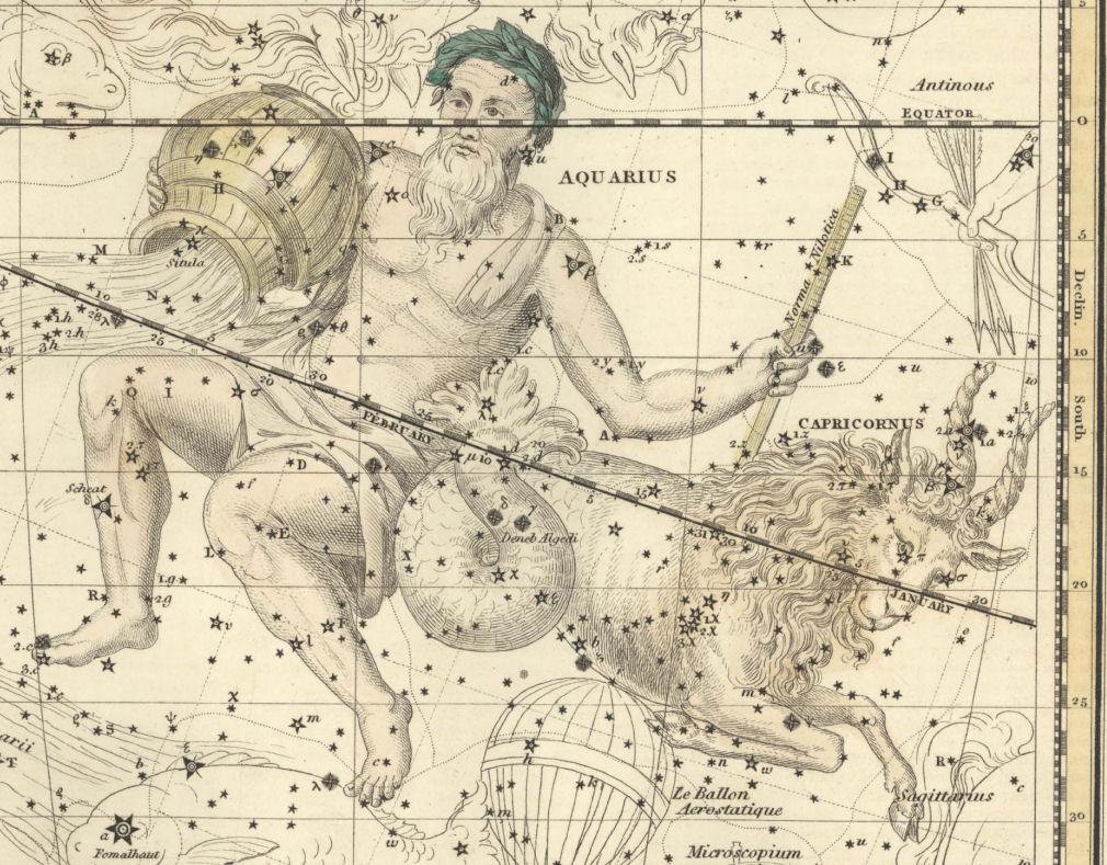 Изображение Козерога из древнего атласа неба