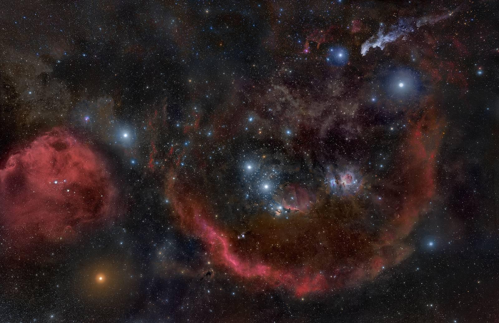 Туманности расположенные в поясе Ориона