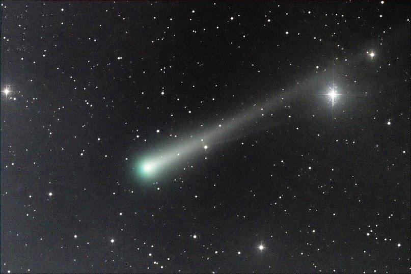 Второй хвост у кометы ISON