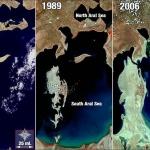 Аральское море сократилось на половину, всего за 40 лет