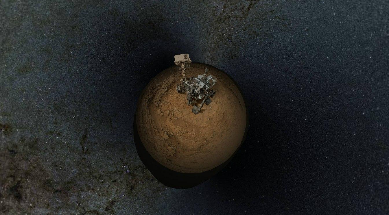 Марсоход Curiosity на Марсе