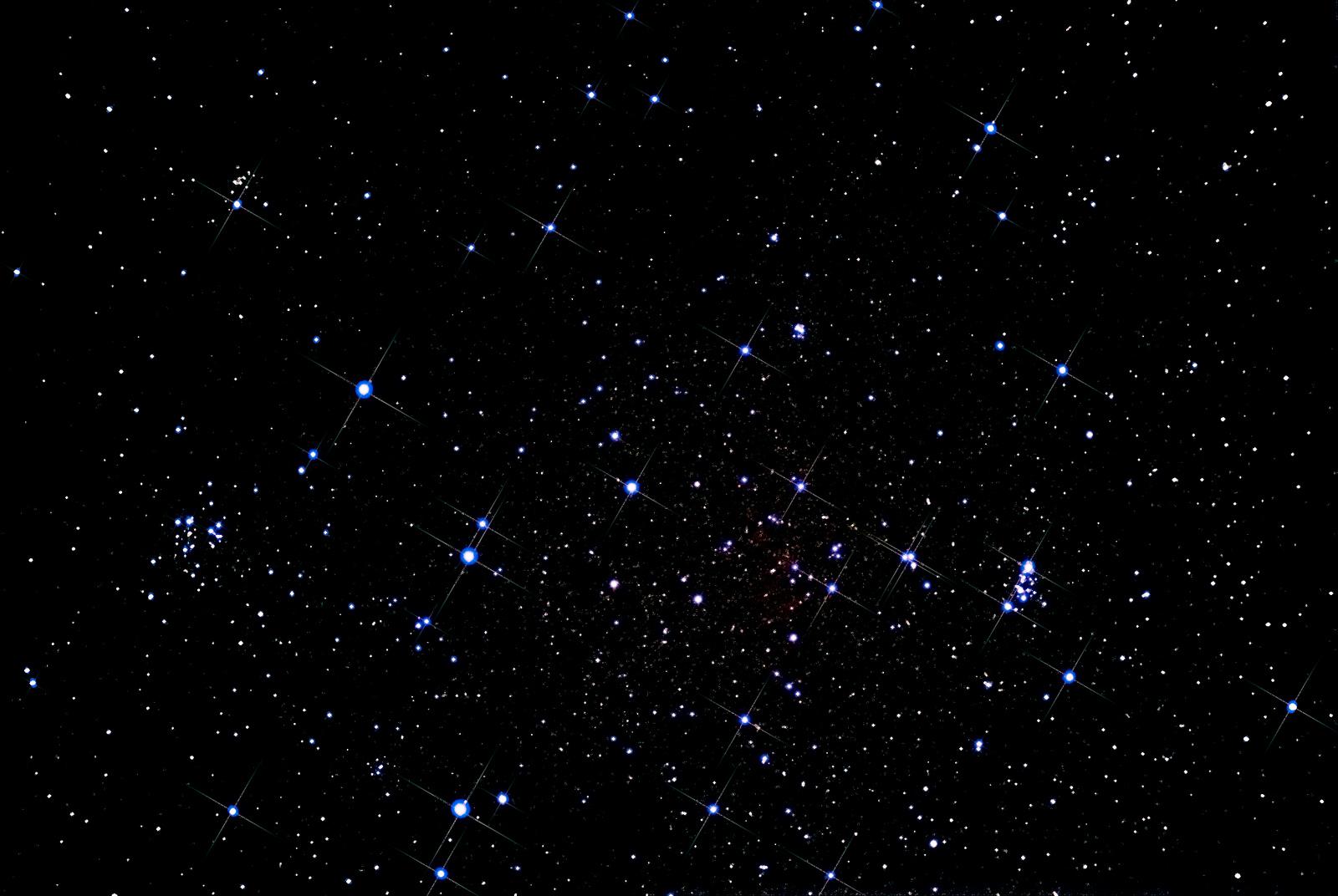 Рассеянные скопления NGC663, NGC 659, NGC 654 и Messier 103