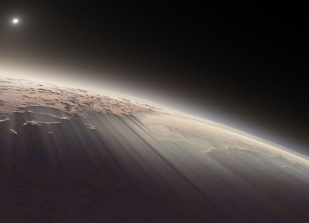Рисунок планеты, видна слабая атмосфера