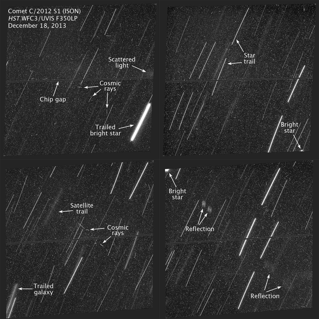Снимок сделанный Хабблом с аннотацией