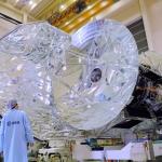 Телескоп «Гершель» во время сборки в Нидерландах