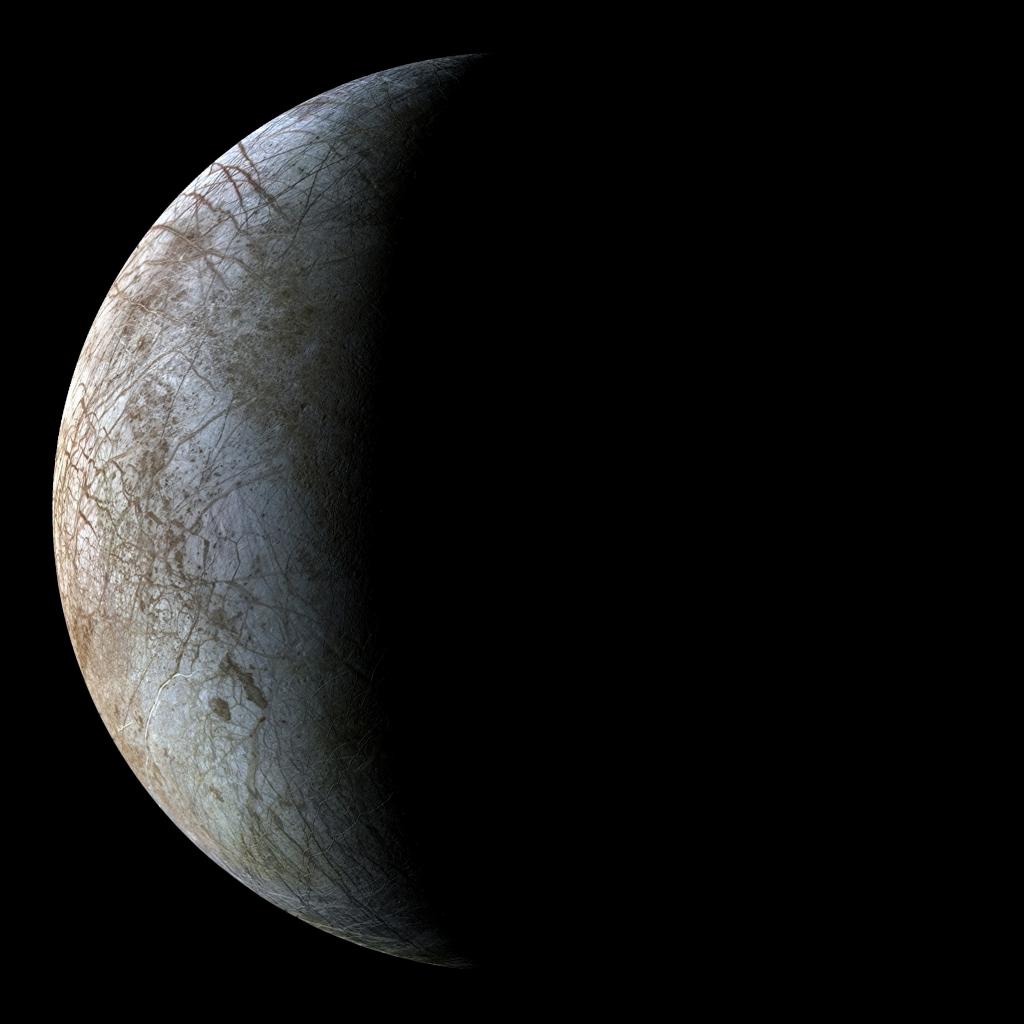 Изображение спутника Юпитера Европа