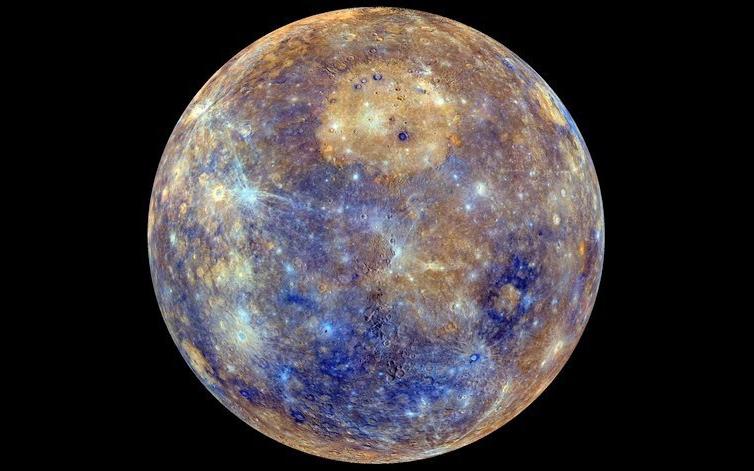 Меркурий, снимок зонда MESSENGER