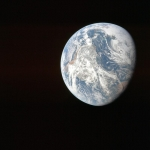 Снимок Земли с космического корабля Apollo-8