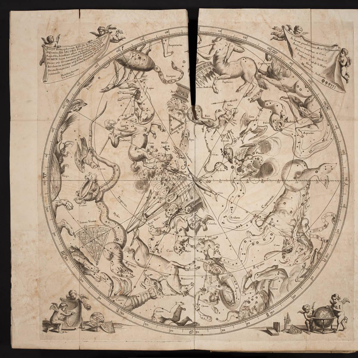 Созвездия Южного полушария автор Гевелий Ян, Уранография 1690 год