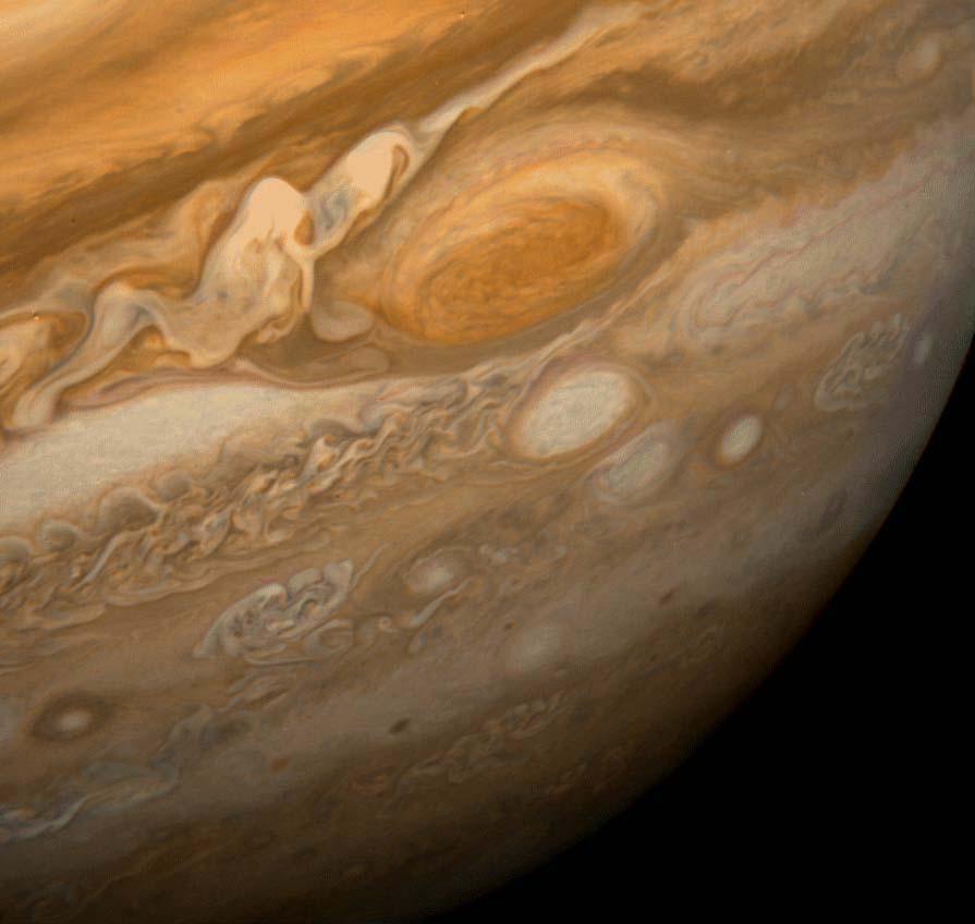 Облачный слой Юпитера, снимок Вояджера