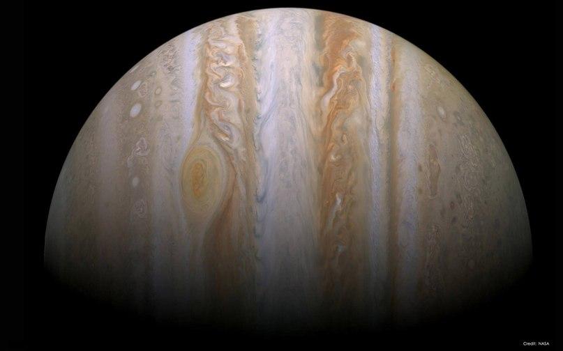 Впечатляющие масштабы Юпитера