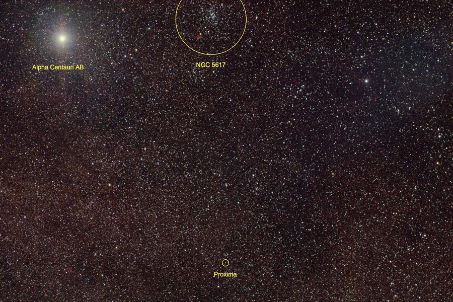 Тройная система и звездное скопление NGC 5617