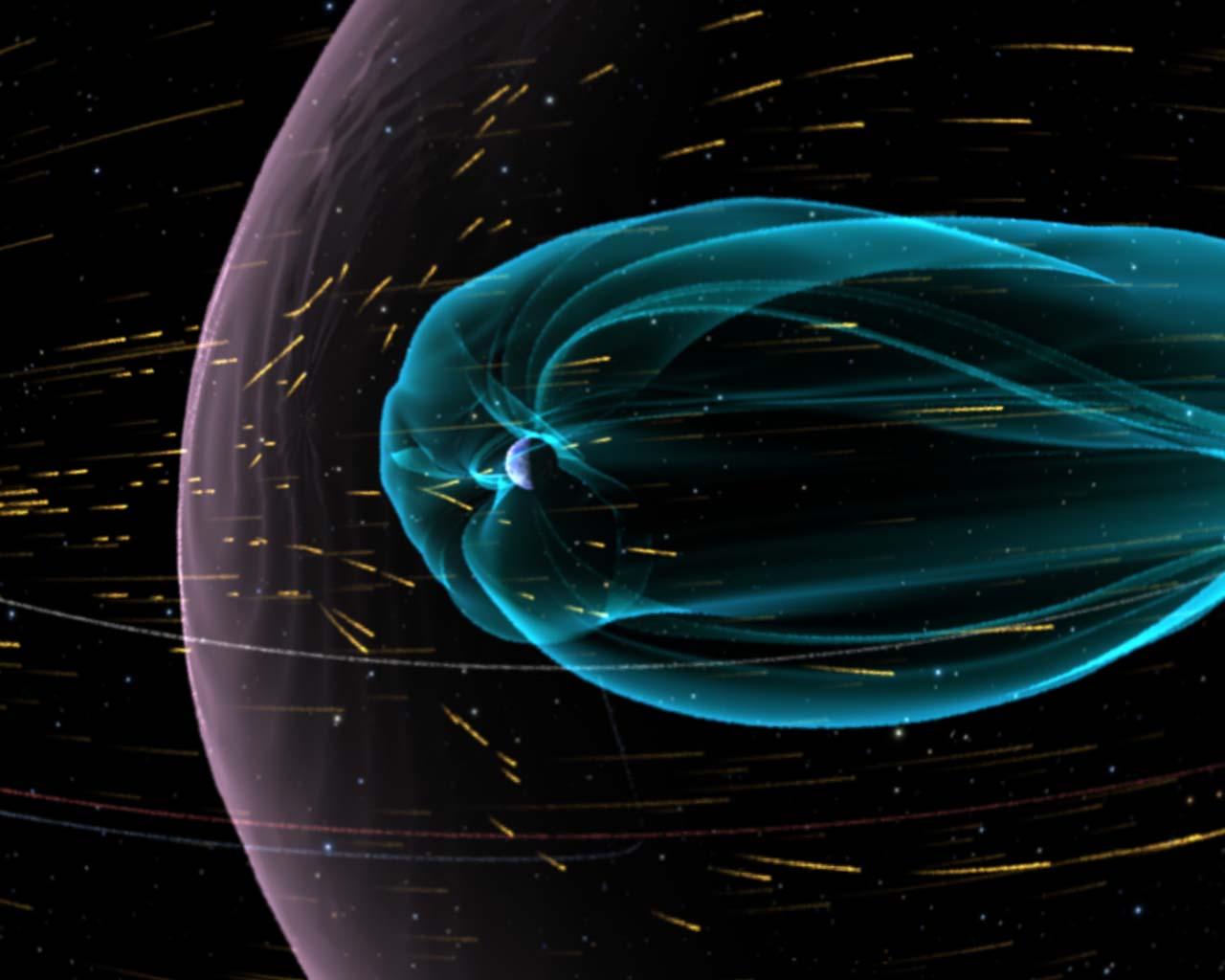 Схема Земной магнитосферы
