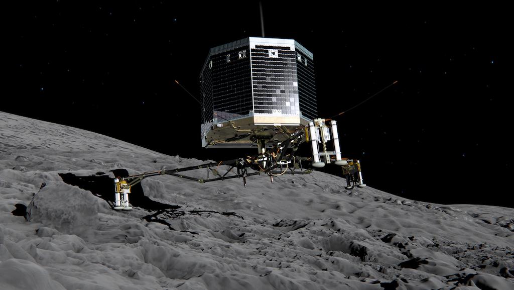 Зонд Фила на поверхности кометы
