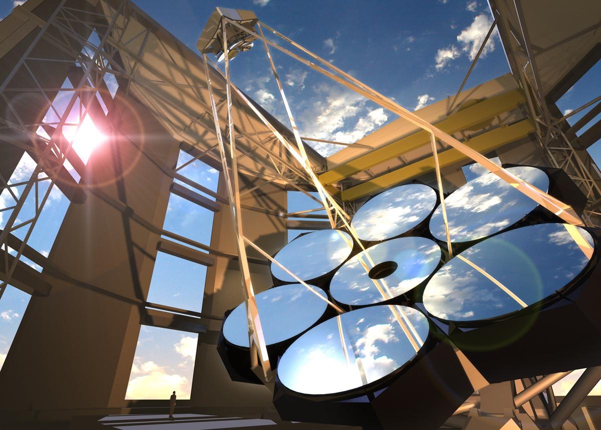 Компьютерный рендер будущего телескопа