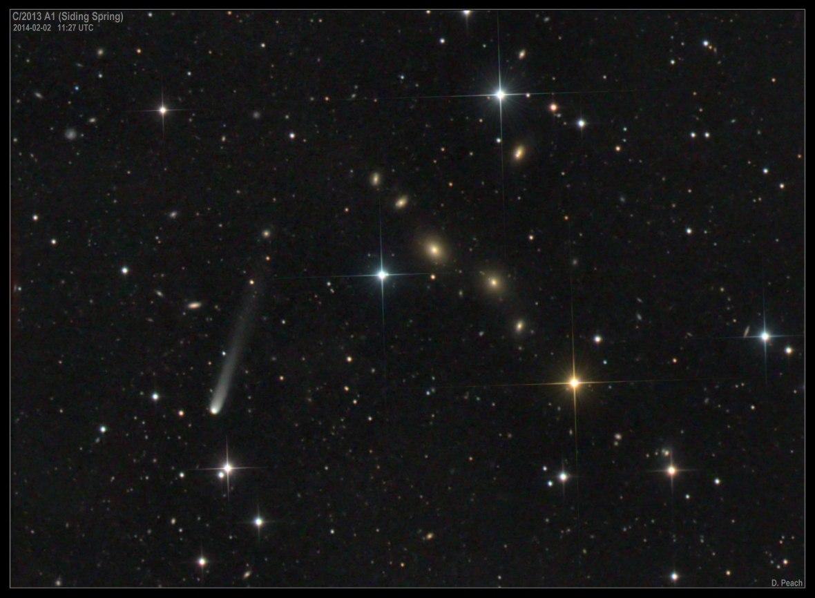 Комета Siding Spring, снимок Демиана Пича