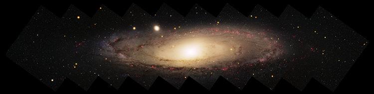 Панорамный снимок галактики M31