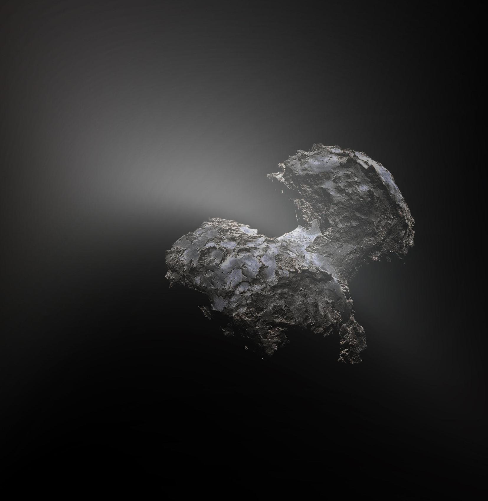 Обработанный снимок кометы