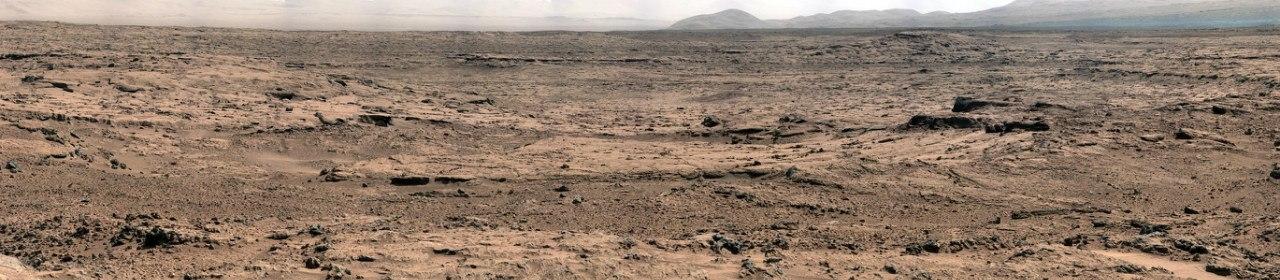 Панораму Curiosity участка Rocknest