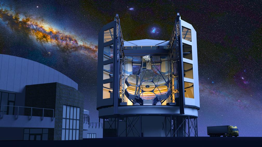 Телескоп на фоне Млечного пути