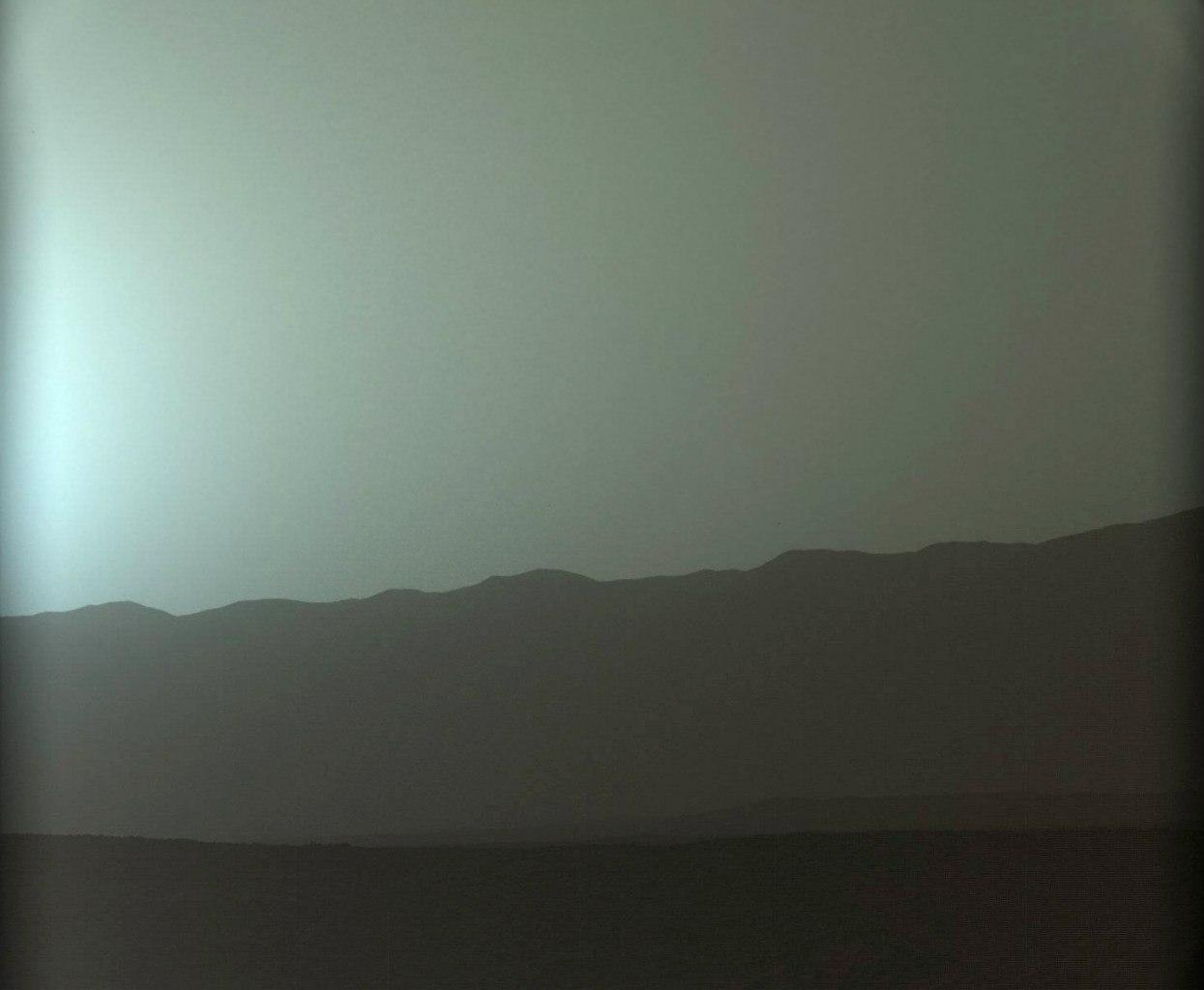 Вечерняя заря на Марсе
