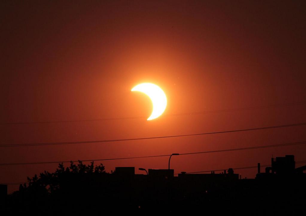 Частичное Солнечное затмение 24 октября