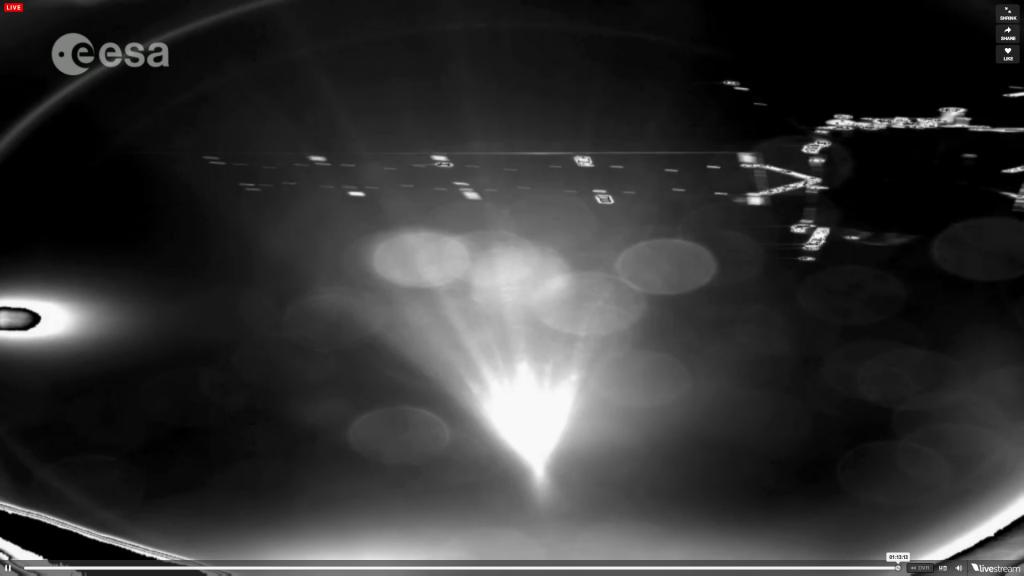 Первый снимок зонда Philae