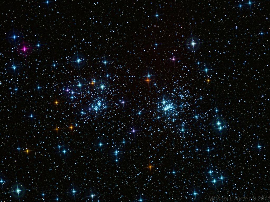 Двойное звездное скопление h и x Персея