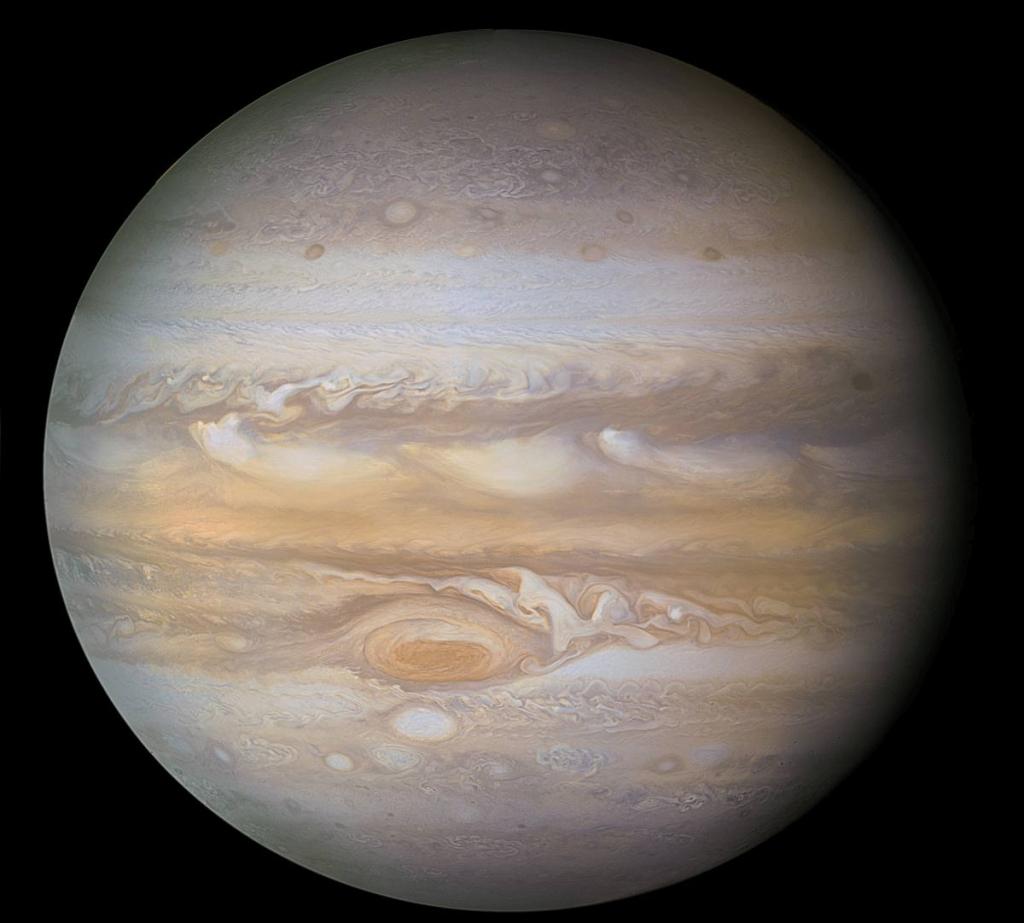 Юпитер, обработка снимков Вояджера-1 от Roberto Colombari