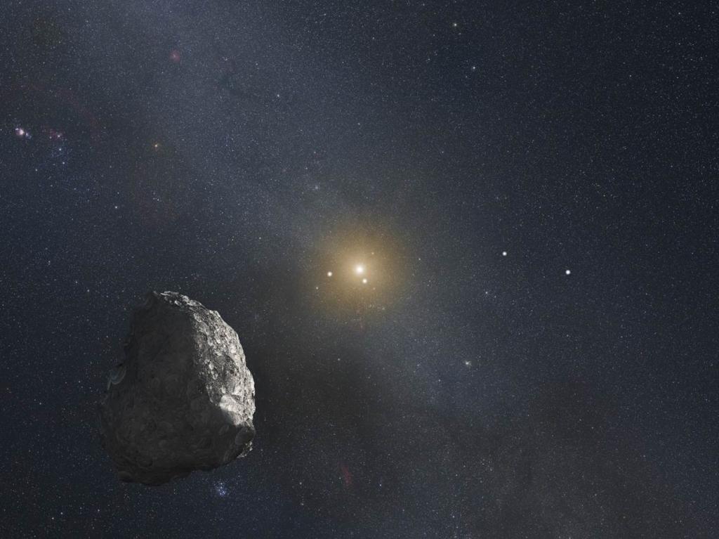 Рисунок астероида из пояса койпера