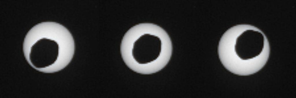 Прохождение Фобоса через центр солнечного диска