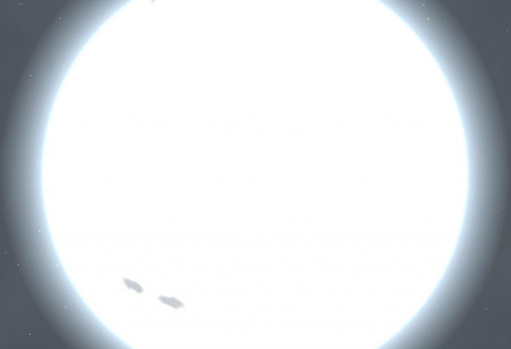 Ригель с расстояния одной астрономической единицы