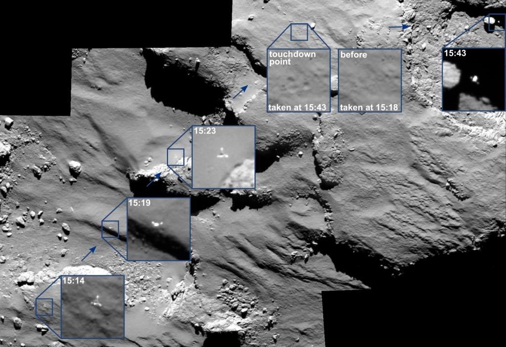 Снимки камерой OSIRIS